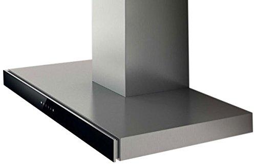 Elica JOY BLIX/A/60 Monté au mur Noir, Acier inoxydable 500m³/h - Hottes (500 m³/h, Conduit, 46 dB, 63 dB, 50 cm, 65 cm)