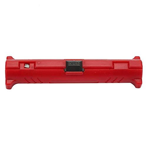 Multifunktions-Kabelabstreifer Koaxial-Kabelabstreifer Rotationsdrahtabisolierer mit Doppelmesser-Pitch-Einstellung(Red)