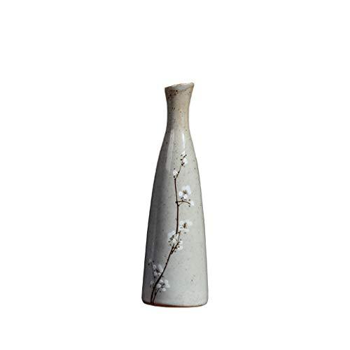 Jarrón de cerámica pequeño y Fresco, pequeño jarrón, florero japonés de Porcelana Zen, Sala de Estar, decoración China, arreglos Florales, Porcelana para el hogar