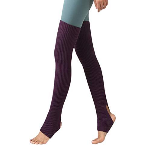 Lorsoul 1 Par Mujeres Niñas Calentadores de la Pierna Calcetines Largos sin Base de Calcetines de Invierno de Baile de otoño Medias Ballet Yoga