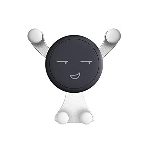 SunnyLou Soporte Móvil Coche 2 unids Universal Ajustable Teléfono Teléfono Air Vent Air Soporte Soporte Soporte Soporte Soporte 360 ° Rotación Soporte de Escritorio Antidiskid Holder Soporte Coche