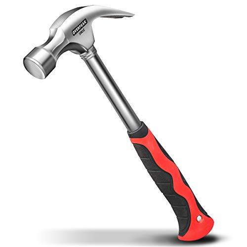 overpeak Curve Claw Hammer mit Stahl Griff für Dad, Weihnachten, Geburtstag, Father 's Day, BR215023, Manuell, 20-ounce-4