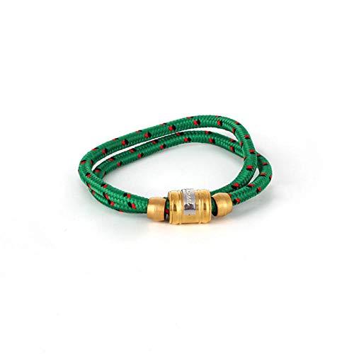 Zuiaidess Bracelet Tressé,Tissé Main des Couples Vert Main Acier Titane Sangle Nylon Réglable Bracelets Plaie Lifeline pour Femmes Hommes Accessoires Sports De Plein Air