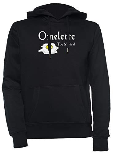 Luxogo Omelette The Musical! (Something Rotten) Unisex Schwarz Kapuzenpullover Sweatshirt Herren Damen Unisex Black Jumper Men's Women's