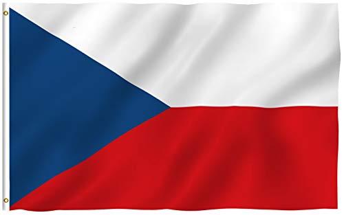 Anley Fly Breeze 90 x 150 cm Bandera República Checa - Colores Vivos y Resistentes a Rayos UVA - Bordes Reforzados con Lona y Doble Costura