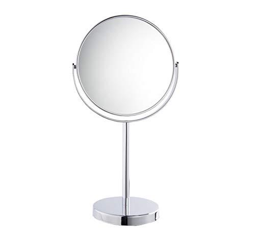 ACMEDE Miroir de Maquillage Miroir de Table Rond, Miroir cosmétique avec Support pour Salle de Bain, Style rétro, Rotation 360°