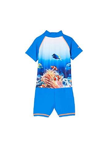 Playshoes Jungen Unterwasserwelt Sonnenanzug, blau, 110/116