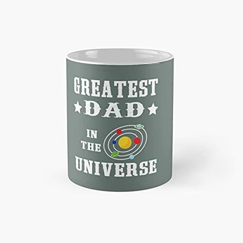 Taza clásica con texto en inglés 'Greatest Dad in the Universo', el mejor regalo