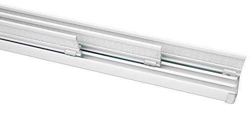 Gardinia Flächenvorhangschiene Komfort Komplett-Set 3-läufig weiß 170cm, 170 cm