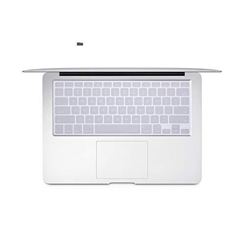 Funda de teclado para portátil MacBook Air de 13 pulgadas modelo A1466 A1369 U.S. Edition Us-Enter texto en inglés protector de teclado película transparente