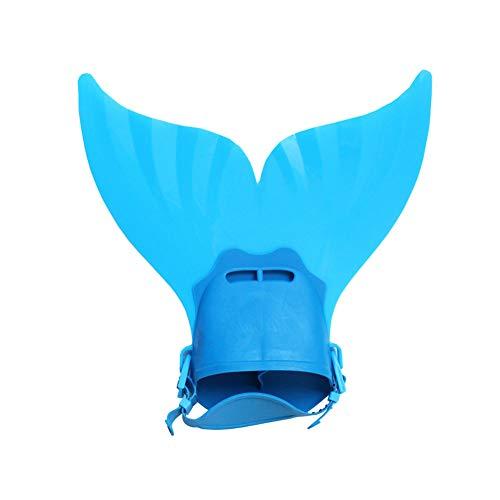 Yisily Azul Kids Training Sirena Aleta De Natación Pie Flipper Snorkel Aletas...