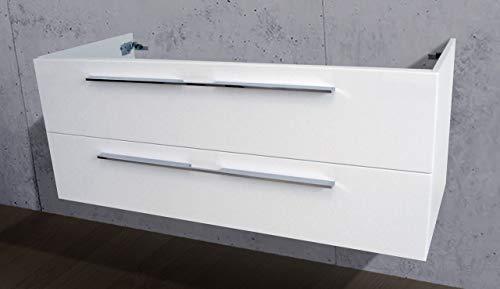 Intarbad ~ Waschtisch Unterschrank zu Villeroy & Boch Venticello Doppelwaschtisch 130cm Waschbeckenunterschrank Grau Matt Lack IB5214
