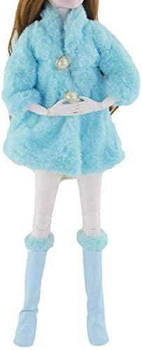 XinYiC Abrigo de felpa suave de manga larga con botas para zapatos de 22 pulgadas, 60 cm, franela para vestido de invierno, accesorios cálidos - # D