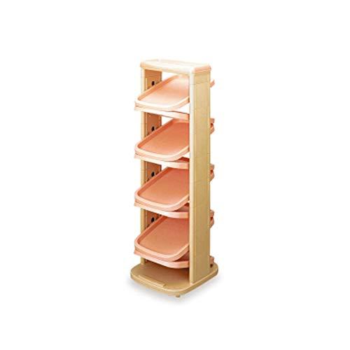 Organizador compacto Multi-capa combinada de zapatos verticales Organizar estantes de almacenamiento Gabinete de zapato giratorio de plástico Material Excelente material no tóxico y sin sabor Para esp