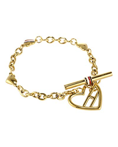 Tommy Hilfiger Fine Core Damen Armband Edelstahl Vergoldet 16,5 cm