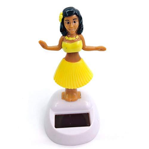 Kinin Danseuse Hawaienne Voiture Qui Bouge, Danseuse Solaire Voiture, Figurine Solaire Dansante, Créativité Figurine Hawaïenne Voiture Décoration De Voiture Solaire Danse Jouet Bureau Fournitures