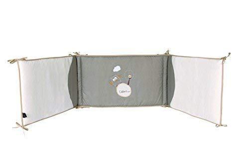 P'tit Basile - Tour de lit bébé de dimensions 40x180 cm - Coton Bio certifié Gots et oeko-tex - adaptable aux lits de dimensions 60x120 ou 70x140 cm