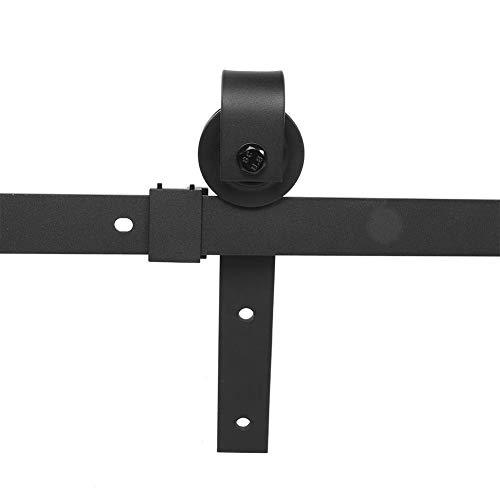 6FT Kit di Binari per Porte Scorrevoli di Giunzione per Porte 120KG Kit di Ferramenta per Porta da Fienile in Acciaio Al Carbonio Standard per Porta da Fienile