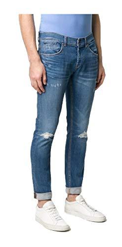 Dondup Jeans Uomo George UP232 DSE270U EA5 DU 800 Cotone biologico fit Skinny blu PE20 33