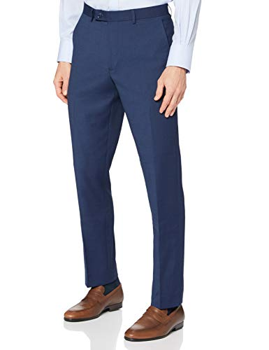 Amazon-Marke: find. Herren Formale Hose Regular Fit, Blau (M Blue), 30W / 29L, Label: 30W / 29L