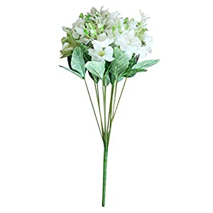 LIOOBO 12pcs Artificial Flowers Gardenia Simulation Jasmine Flowers for Home Office Decor (White)