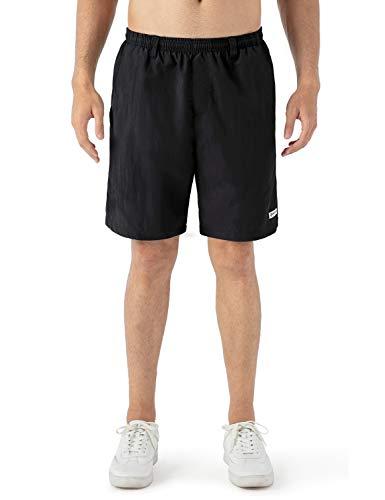 NAVISKIN Shorts Playa Hombre UPF 50+ Bañadores de Natación Traje de Baño Pantalones Cortos de Surf Beach Pants Secado Rápido 8in, Negro L