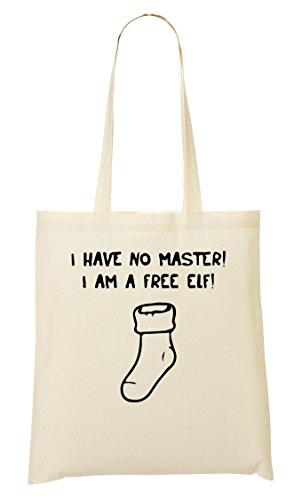 I Have No Master I Am A Elf Sock Funny Tragetasche Einkaufstasche