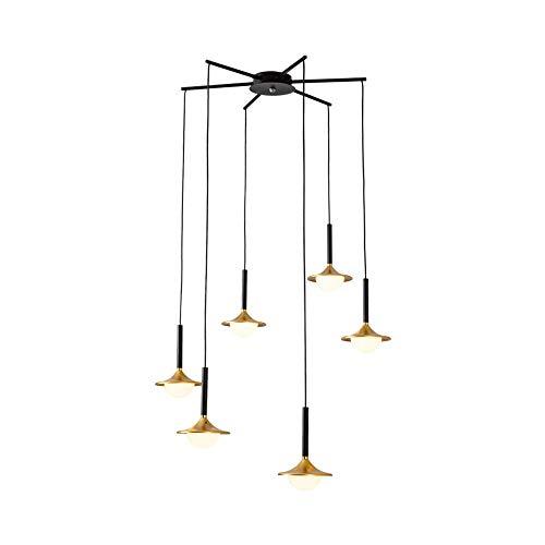 Szlight LED Luz Colgante Nórdico Duplex Sala De Estar Lámpara Personalidad Creativa Restaurante Lámpara Colgante Loft Escalera De Caracol Araña Tienda De Ropa Café Lámpara