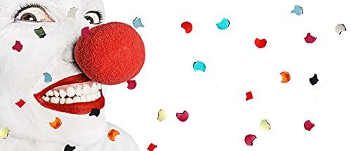 BONHHC Narices de payaso rojo Cosplay 30 piezas nariz de circo para fiesta familiar, circo, fiesta de baile, nariz de reno Halloween Navidad