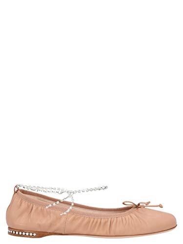 Luxury Fashion | Miu Miu Dames 5F916CF005038F0A48 Roze Kristal Ballerina's | Lente-zomer 20