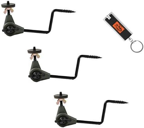 3 Pack HME Economy Trail Camera Holder, Game Camera Mount, Game Camera Stand, Game Camera Holder, HME Easy Mount Trail Camera Holder 3-Pack Plus Built To Last! Keychain Light