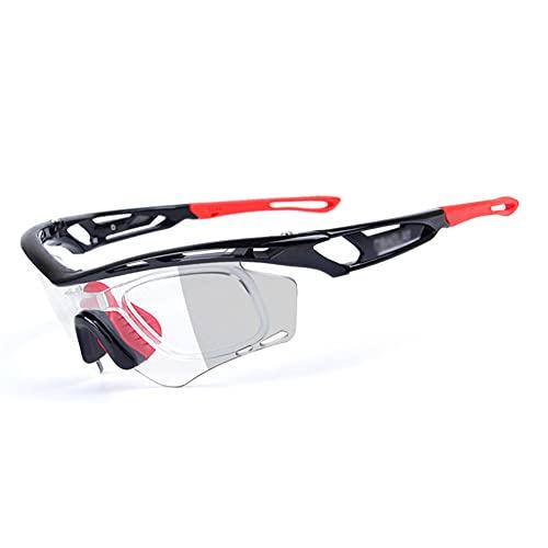 YYLI Gafas De Sol Fotocromáticas, Protección UV400 Anti Viento Gafas De Sol Polarizadas para Hombre Y Mujer para Ciclismo Bicicleta Running Deportes Conducción,D