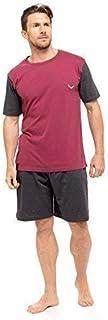 Mens T-Shirt Top & Shorts Pyjama Set Loungewear Cotton S-XL (1 or 3 Pack)