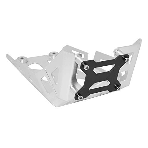 WONYAN Motorfiets Onderdelen Motor Chassis Guard Expedition Skid Panel Plate Onderpan Protector for de BMW G 310 R/GS G310R G310GS 2016 2017 2018 2019 2020 (Color : Silver (Black Cover))