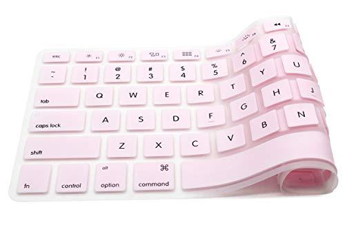 Funda para teclado compatible con MacBook Pro de 13 pulgadas, 15 pulgadas, 17 pulgadas, 13 pulgadas, para MacBook Air de 13 pulgadas, para iMac, teclado inalámbrico, color marrón