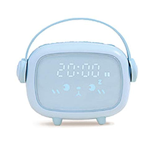 TOPmontain Despertadores de mesa de cabeceira, relógio silencioso com luz noturna, com função de soneca com controle de voz, despertador digital para quarto e escritório