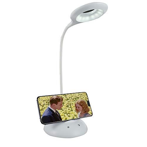Lámpara Escritorio LED Flexo con Carga Inalámbrica Wireless 28LED 5 niveles de brillo y 5 Modos Lámpara de Control Táctil Luz Nocturna para Cuidado de Los Ojos para Leer Trabajar y Más