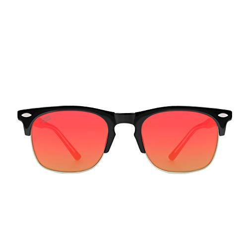 D. Franklin America SQ Gafas de sol, Negro, 50 Unisex