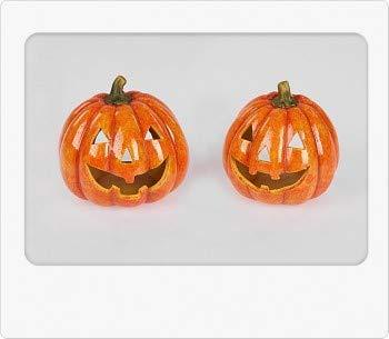 Herbstdeko 1 Windlicht Halloween Kürbis 13cm 1 Modell sortiert aus Keramik