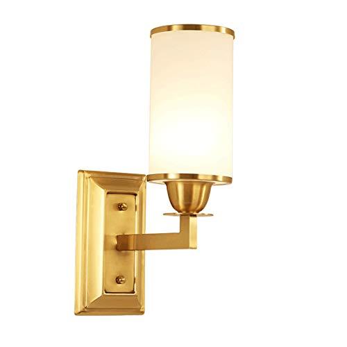 CJH wandlamp van koperen koplamp spiegel slaapkamer studiumlamp woonkamer wandlamp enkele kop