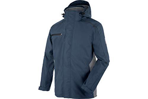 WÜRTH MODYF Regenjacke Cetus dunkelblau/grau: Die Wasser- und Winddichte Regenjacke ist in 3XL erhältlich. Die perfekte Regenjacke für Handwerker Profis.