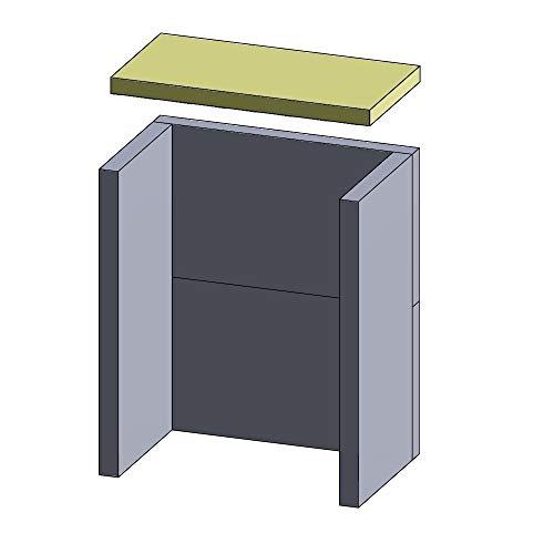 Flamado Feuerraumauskleidung Heizgasumlenkplatte geeignet für passend für Haas und Sohn Kamin Ersatzteile Kaminofen Brennraumauskleidung Schamotte 410 x 210 x 25 mm 1.350°C