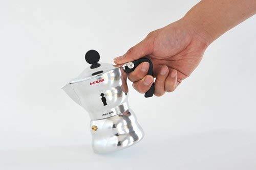 Alessi Moka Alessi AAM33 / 3 Design Espressomaschine aus Aluminiumguss, 3 Tassen
