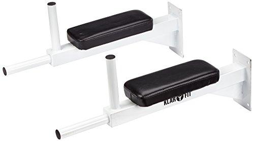 Klarfit Barra per trazioni Pull up Bar Multifunzione a Muro Fitness (150 kg, Cuscinetti, Acciaio)