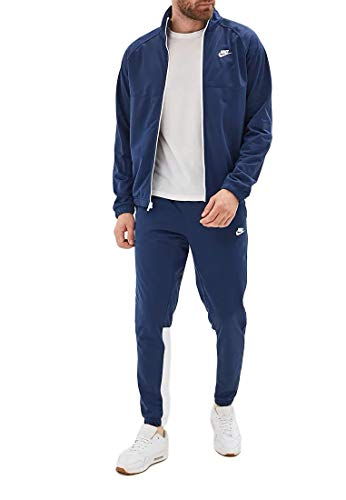 Nike Herren Sportswear Trainingsanzug, Midnight Navy/Midnight Navy/White/White, M