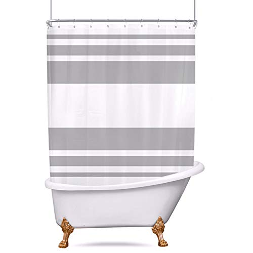 Riyidecor Clawfoot Tub Shower Curtain 180Wx70H Inch All Wrap...