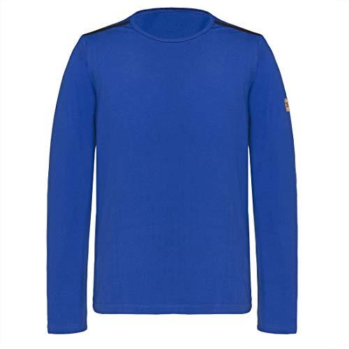 TAO Sportswear NIK T-Shirt à Manches Longues pour Homme en Coton, Bleu Roi, 52