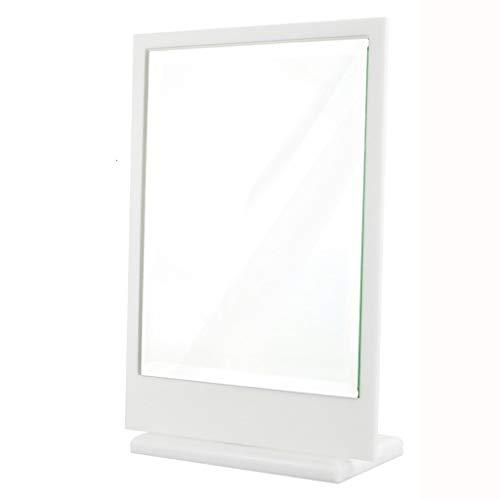 WSC Mirro Acrylique De Bureau Maquillage Miroir Magasin De Bijoux Bijouterie Dortoir S'habiller Miroir À Une Face Européenne, Blanc