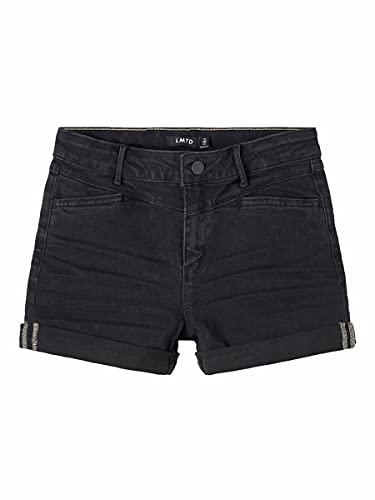 NAME IT NLFRAVEN DNMBATECES 7445 HW Shorts Noos Pantalones Vaqueros, Black Denim, 170 cm para Niñas