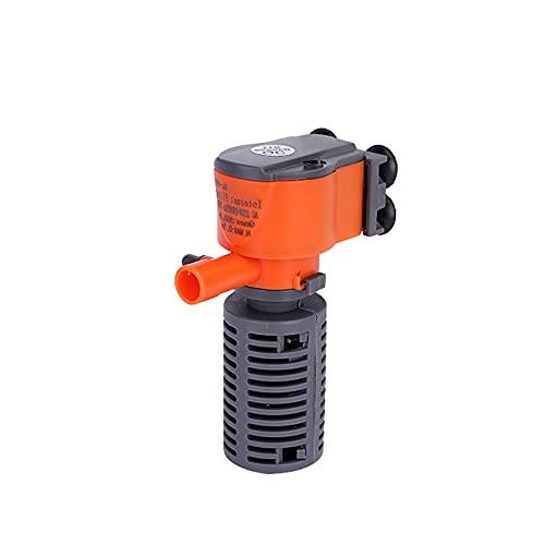 Gecheer Mini Filtro 3 en 1 de 3 W / 5 W, Filtro de Esponja para Peces de Acuario, Suministro de oxígeno, Filtro de Bomba de Aire silencioso para Todas Las peceras pequeñas